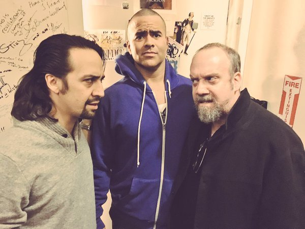 Lin-Manuel Miranda, Christopher Jackson, Paul Giamatti