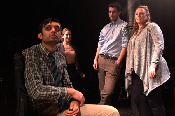 Kaiser Ahmed, Amanda Fink, Matt Thinnes, and Barbara Figgins (photo credit: Evan Barr)