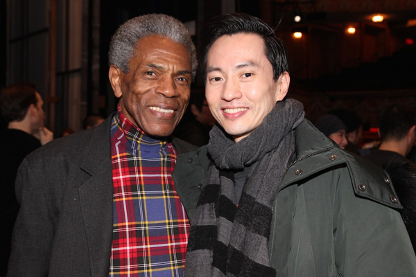Photo Flash: Two-time Tony Nominee André De Shields Visits Broadway Cast of ALLEGIANCE Backstage