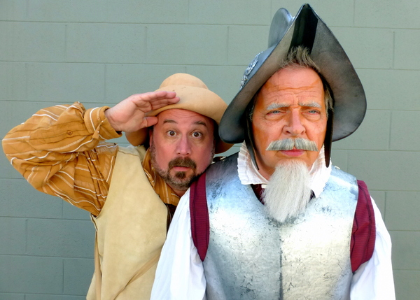 Sancho and Don Quixote begin a new adventure. — with Bradley Miller and Ben Lupejkis.