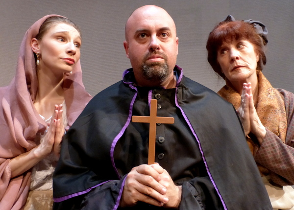 "Antonia, the Padre, and Housekeeper sing 'I'm Only Thinking of Him.' �"" with Kelsey Nisbett, Peter Miller and Susan Stangl."