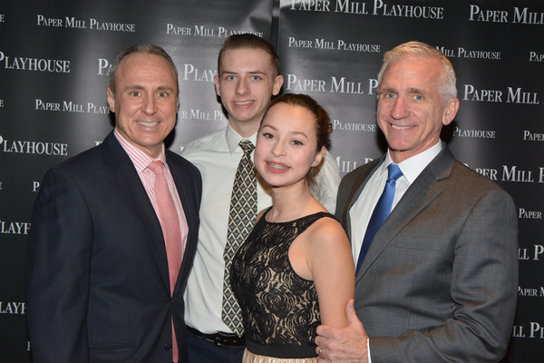 Larry Elardo, Stephen Hoebee-Elardo, Ashley Hoebee-Elardo and Mark S. Hoebee (Producing Artistic  of Paper Mill Playhouse)