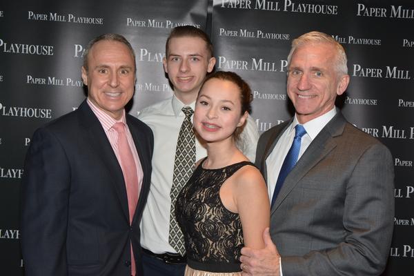 Larry Elardo, Stephen Hoebee-Elardo, Ashley Hoebee-Elardo and Mark S. Hoebee (Producing Artistic  of Paper Mill Playhouse)
