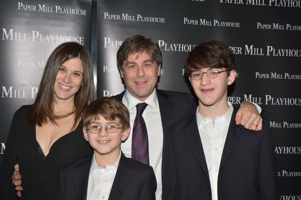 Glenn Slater (Lyrics) with his wife Wendy Leigh Wilf and sons Daniel and Benjamin