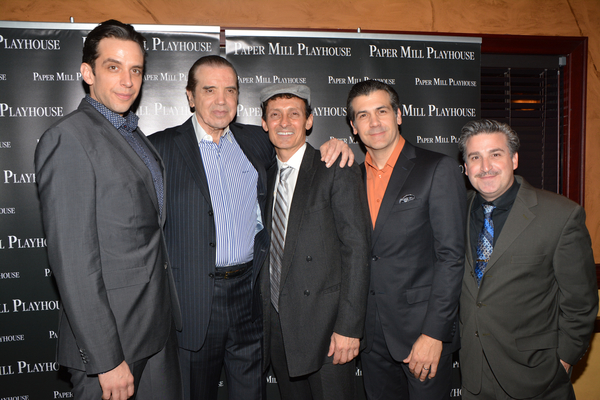 Nick Cordero, Chazz Palminteri, Ted Brunetti, Joey Sorge and Carlos Lopez