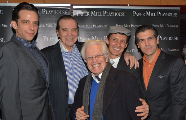 Nick Cordero, Chazz Palminteri, Jerry Zas, Ted Brunetti and Joey Sorge