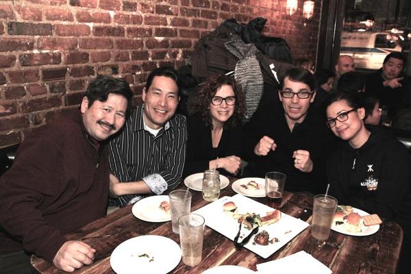 Scott Watanabe, Darren Lee, Elizabeth Parkinson and her husband Scott Wise and Lea Salonga
