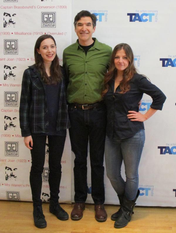 Talene Monahon, Jonathan Hadley, and Hanna Cheek