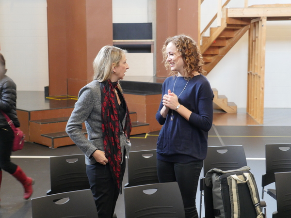 Director and choreographer Donna Feore and Dayna Tietzen (Cassie) Photo