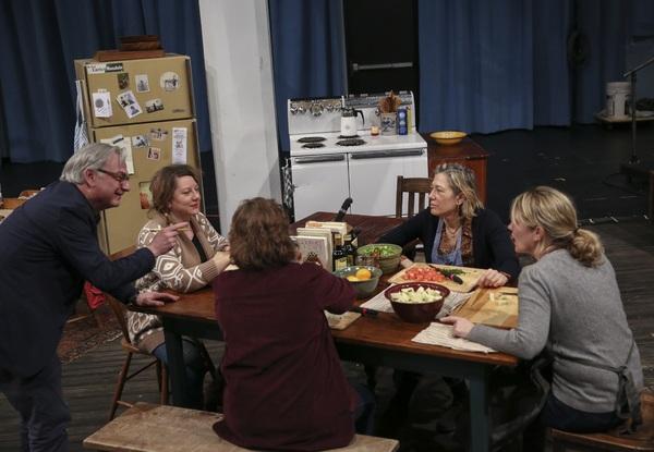 Richard Nelson, Amy Warren, Maryann Plunkett, Meg Gibson, and Lynn Hawley