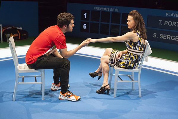 Alex Mickiewicz as Sergei and Natalia Payne as Galina