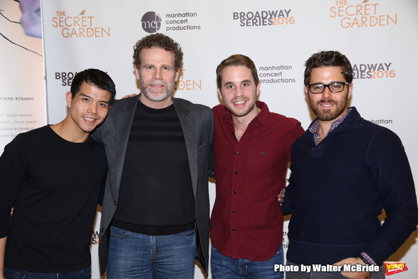 Telly Leung, Jere Shea, Ben Platt and Josh Young