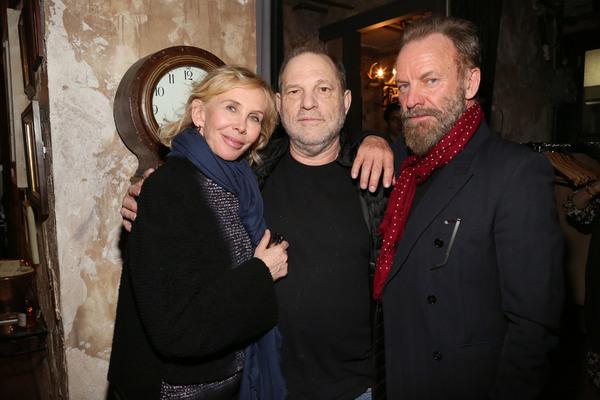Trudie Styler, Harvey Weinstein, Sting Photo