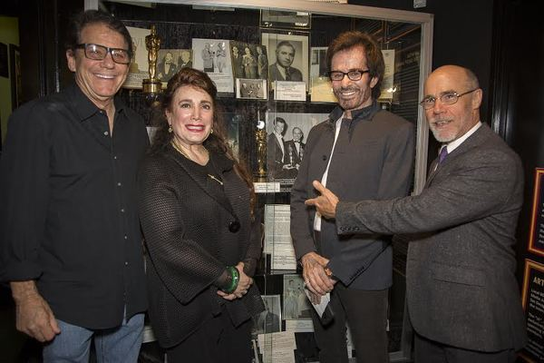 Anson Williams, Donelle Dadigan (Founder and President of The Hollywood Museum), George Chakiris, Barry Livingston