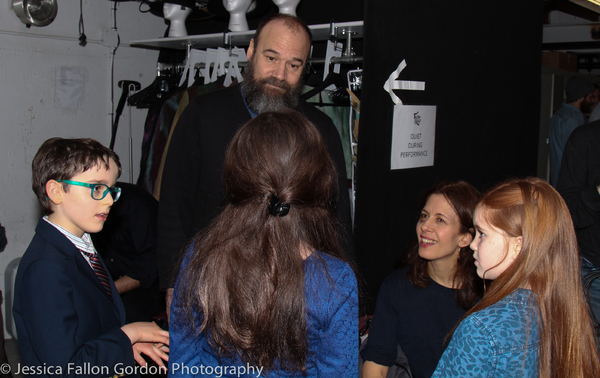 Charles, Isabella and Tai chat with Danny Burstein and Jessica Hecht