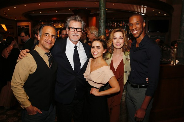 David Pittu,  Robert Egan and Mae Whitman, Sharon Lawrence and York Walker
