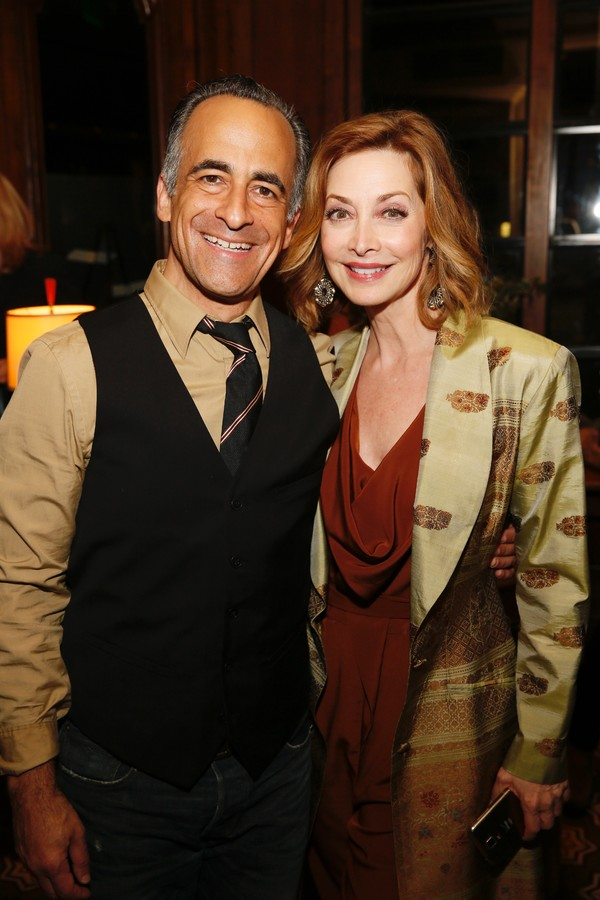 David Pittu and Sharon Lawrence
