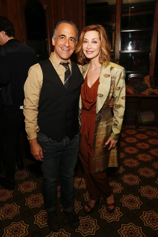 Cast members David Pittu and Sharon Lawrence