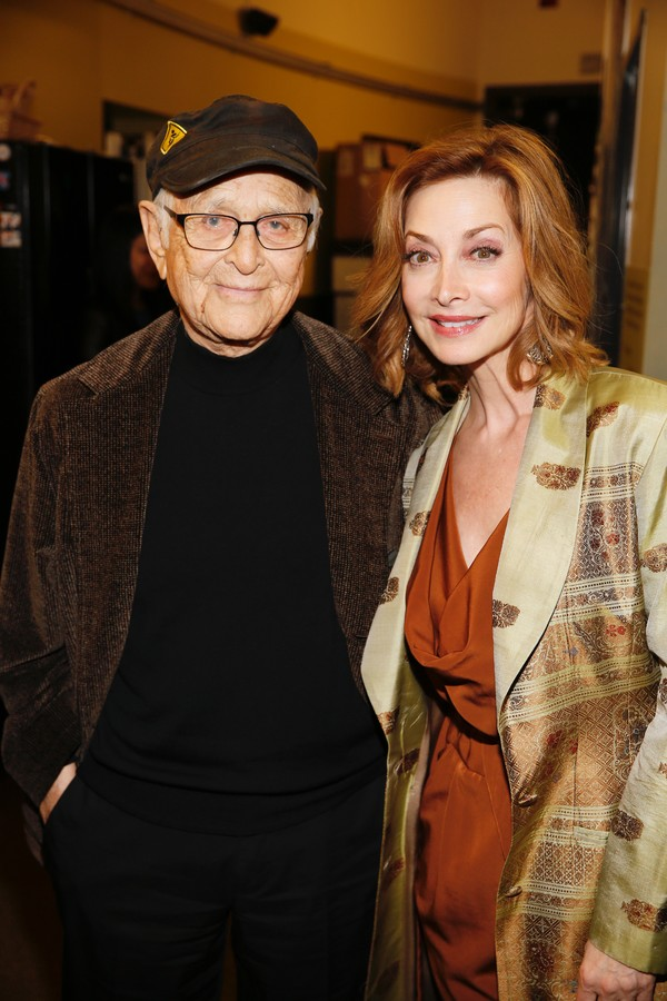 TV producer/writer Norman Lear and Sharon Lawrence