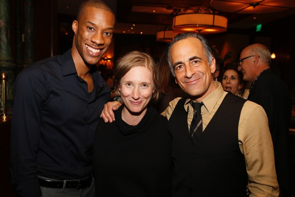 York Walker, playwright Bathsheba Doran and David Pittu