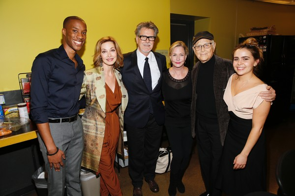 York Walker and Sharon Lawrence,  Robert Egan, Lyn Lear, TV producer/writer Norman Lear, and Mae Whitman