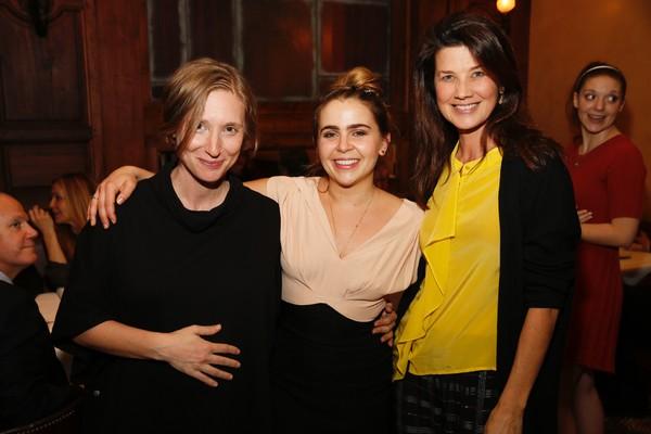 Playwright Bathsheba Doran, Mae Whitman and actress Daphne Zuniga