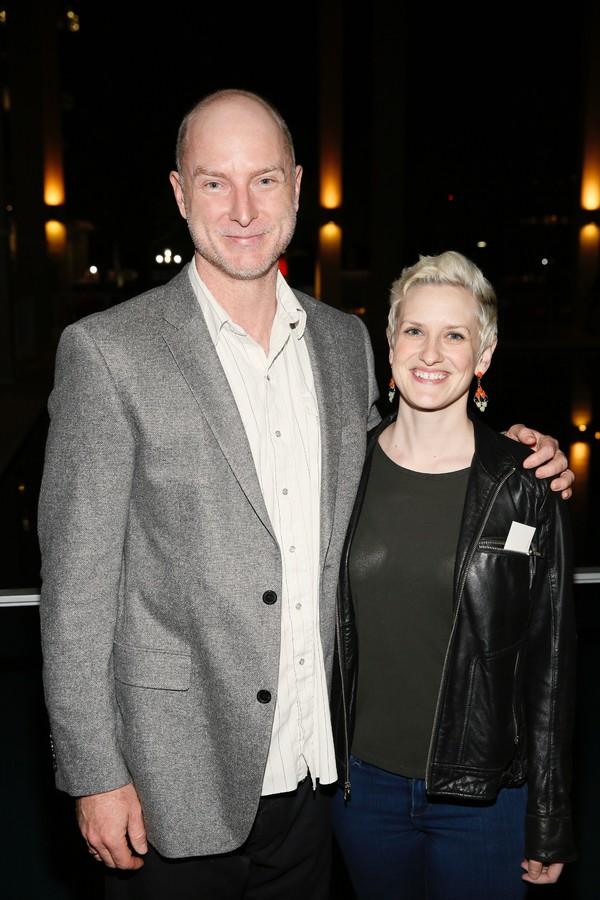 Actors Hugo Armstrong and Melissa Jones
