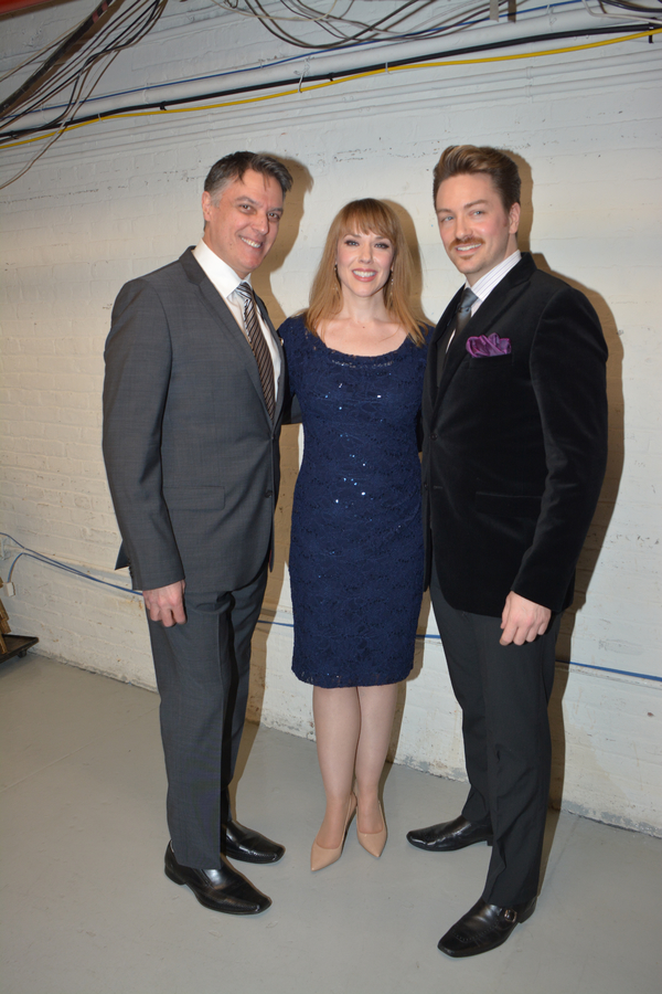 Robert Cuccioli, Emily Skinner and Brian Charles Rooney