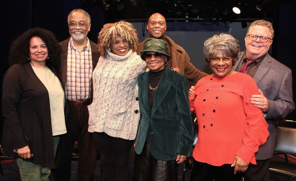 The Panel poses for photo: Julia Lema, William Foster McDaniel, Leslie Dockery, Micki Grant, Erich McMillan-McCall, Tina Fabrique and James Morgan.