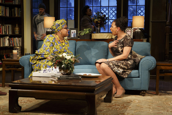 Myra Lucretia Taylor and Tamara Tunie in Playwrights Horizon's production of Danai Gurira's Familiar. Photo by Joan Marcus