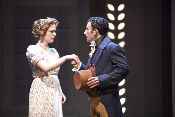 Courtney Lucien as Emma and Jeremy Dubin as Mr. Knightley