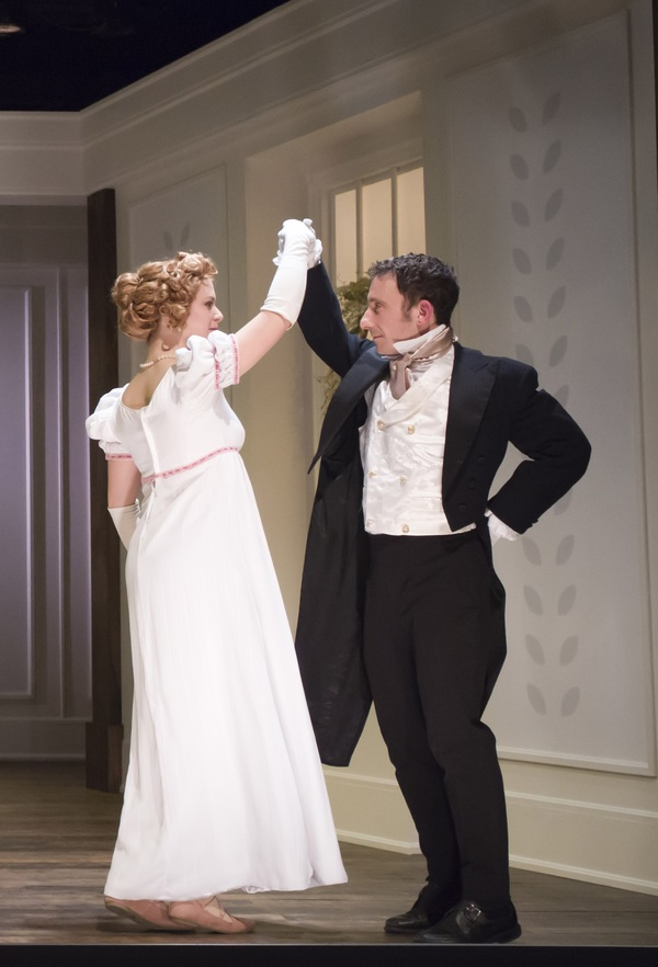 Courtney Lucien as Emma and Jeremy Dubin as Mr. Knightley