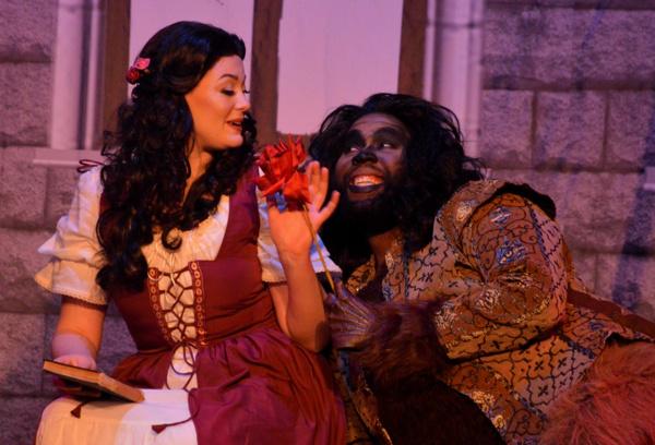 Beauty (Kaitlyn Baldwin) and the Beast (Jonathan Rion Bethea)