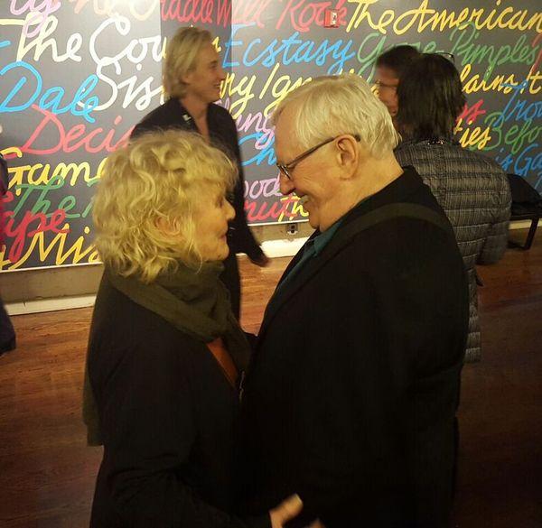 Photo Flash: Petula Clark Visits Len Cariou at BROADWAY AND THE BARD