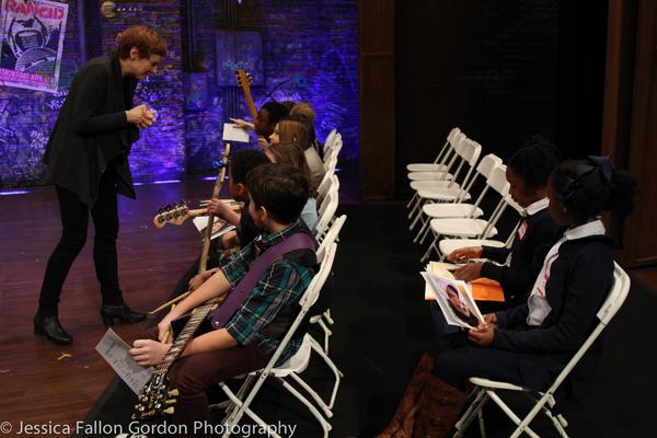 Tara Rubin speaks with some School of Rock auditionees