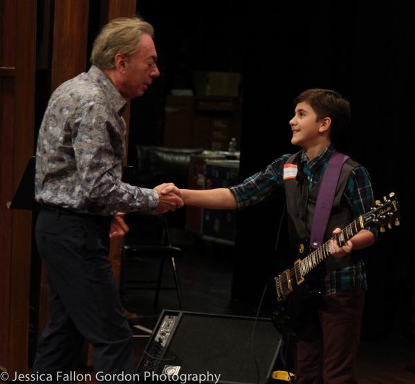 Andrew Lloyd Webber speaks with a School of Rock auditionee