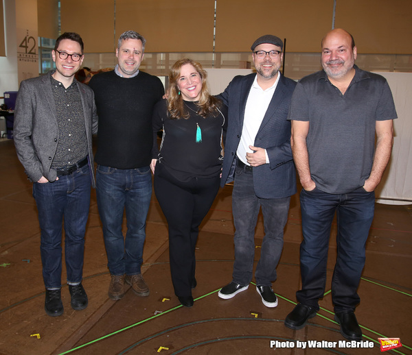 Tim Federle, Chris Miller, Claudia Shear, Nathan Tysen and Casey Nicholaw  Photo