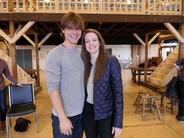 Luke Humphrey (Will Shakespeare) and Shannon Taylor (Viola) Photo