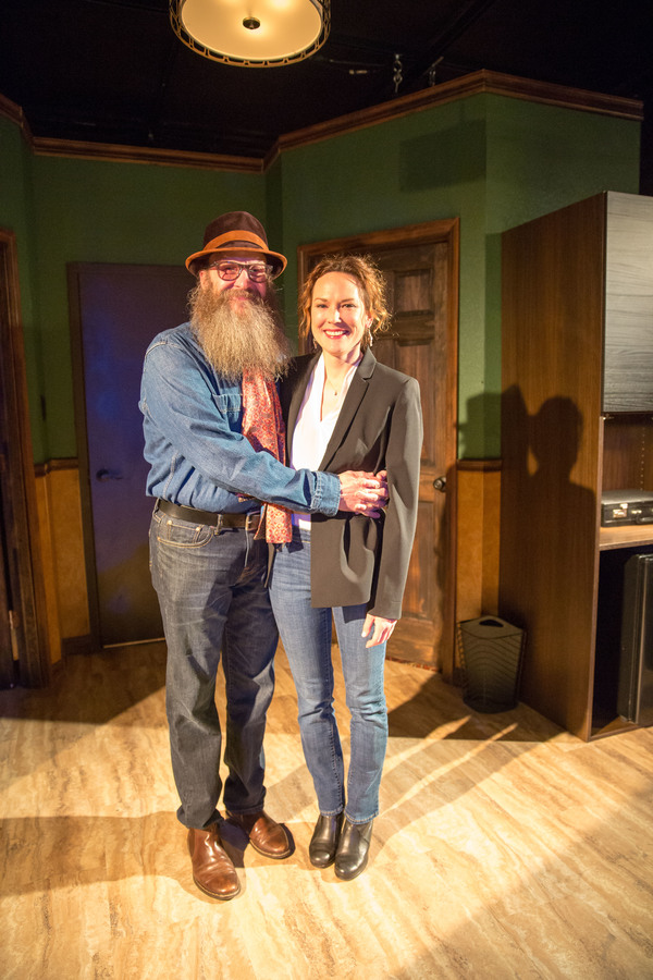 Mark Roberts (Uncle Jim) and Sarah Lemp (Sharon)