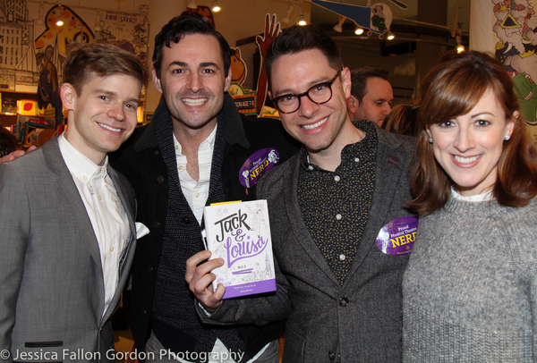 Andrew Keenan-Bolger, Max von Essen, Tim Federle and Kate Wetherhead