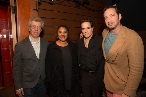 Relentless Award judges Eric Bogosian and Lynn Nottage with Artistic Advisor Yul Vazquez and Executive  David Bar Katz