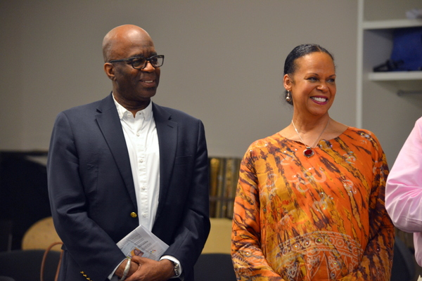Director Kenneth L. Roberson and Playwright and Actress Terry Burrell