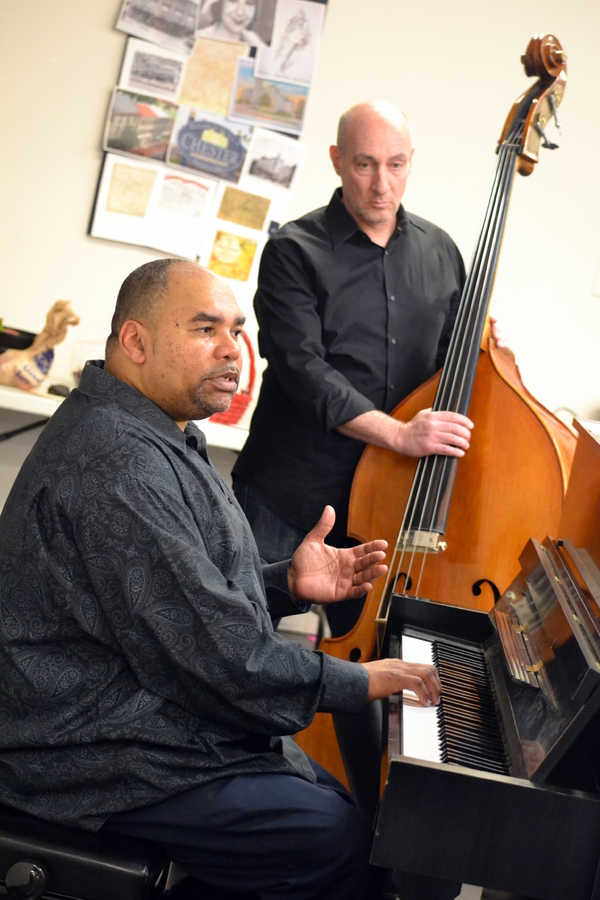 Music Director Tyrone Jackson and Bass player Scott Glaazer