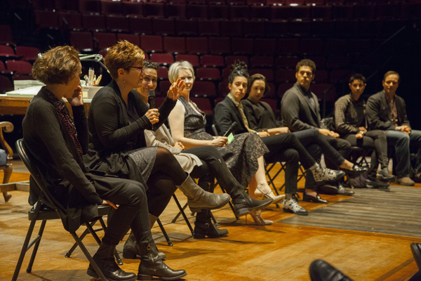 The cast and creatives of FUN HOME with Cynthia Nixon