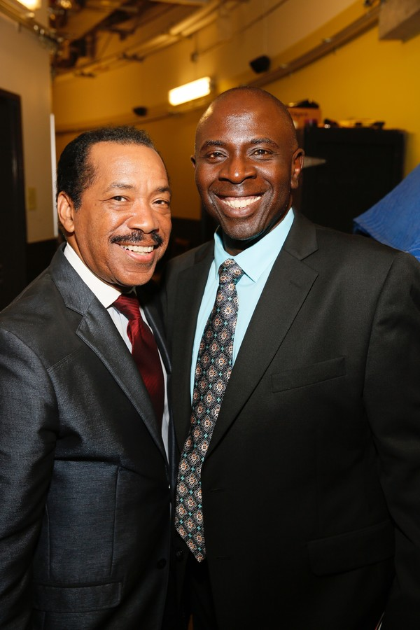 Celebrity judge Obba Babatunde and emcee Gary Anthony Williams