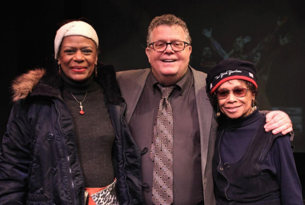 Hope Clarke with James Morgan, York Producing Artistic Director, and composer Micki Grant