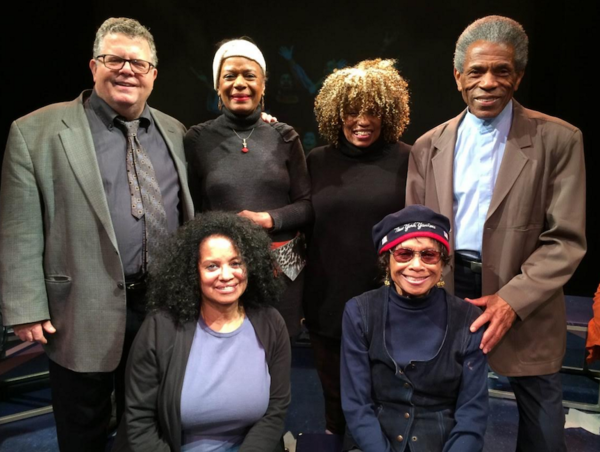 Standing:  James Morgan, Hope Clarke, Leslie Dockery (),  Andre de Shields.  Seated Julia Lema (Assistant ) and Micki Grant