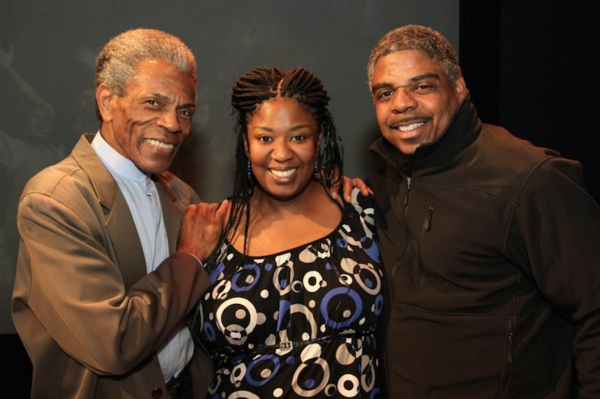 Andre de Shields with Natasha Yvette Williams and guest