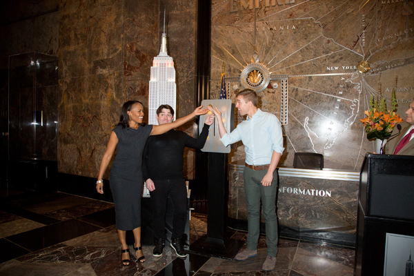 Photo Coverage: THE BOOK OF MORMON Cast Celebrates 5 Years on Broadway at the Empire State Building!