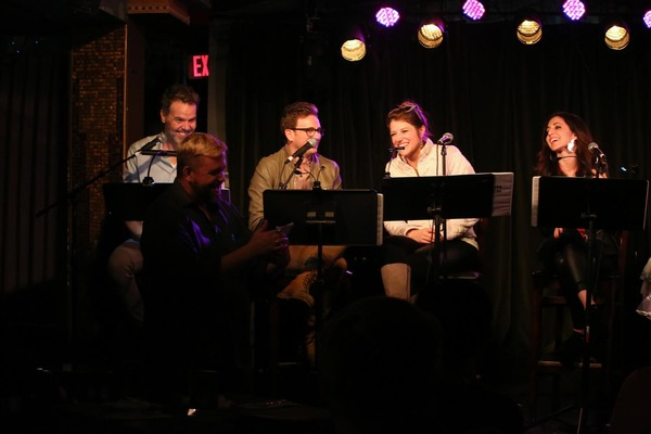 Greg Ainsworth, Tom Lenk, Nicole Parker & Gabrielle Ruiz watch DeBlanks creator Billy Photo